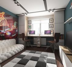 Best Boys Bedrooms Designs Ideas and Decor For Inspiration Small Space Interior Design, Home Room Design, Kids Room Design, Home Office Design, Interior Design Living Room, Boys Bedroom Furniture, Kids Bedroom Sets, Home Furniture, Furniture Stores