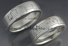 music notes wedding band | ... wedding ring have a favorite song have a phrase put on your wedding