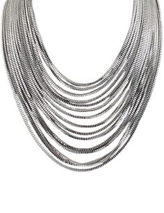 Shop Silver Multilayer Chain Necklace online. Sheinside offers Silver Multilayer Chain Necklace & more to fit your fashionable needs. Free Shipping Worldwide!