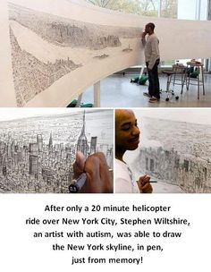 Here's Some Inspiration to Share with the Kiddos: Stephen Wiltshire  -  Pinned by @PediaStaff – Please Visit http://ht.ly/63sNt for all our pediatric therapy pins