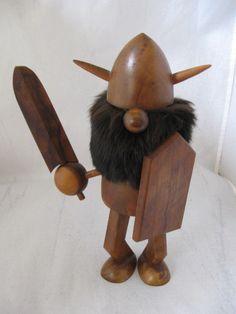 Viking Age wooden Bojesen era -  Vintage olive wood