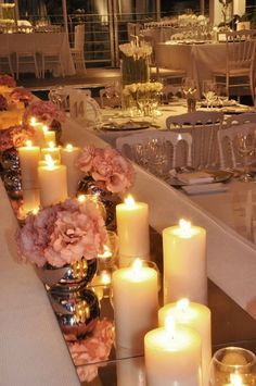 Image result for mirrored centerpieces wedding