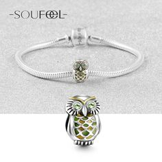 The Jungle Owl Charm 925 Sterling Silver, Charms Fit All Brands Bracelets, Soufeel Jewelry , For Every Memorable Day!