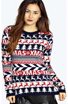 boohoo Jenny Christmas Reindeers Jumper - navy azz16804 Go back to nature with your knits this season and add animal motifs to your must-haves. When youre not wrapping up in woodland warmers, nod to chunky Nordic knits and polo neck jumpers in peppered mar http://www.comparestoreprices.co.uk/womens-clothes/boohoo-jenny-christmas-reindeers-jumper--navy-azz16804.asp