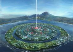 Solar Utopian city. Outer ring: farms, Middle: housing, parks, recreation, inner: government http://www.plantman.org/atlantis_01.jpg pic.twitter.com/Ni4ymf3Bdv