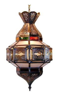 Brass & Glass Hanging Lantern
