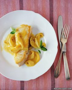 Halibut with Braised, Sliced Artichokes and Lemons Recipe