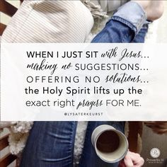 Just sit with Jesus.