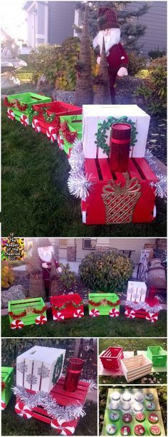 Holiday gift box concrete brick with tutorial its a really great when we have a front yard solutioingenieria Images