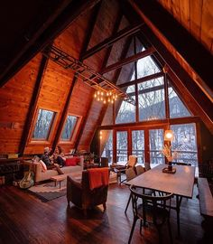 Cozy A Frame Cabin in the Redwoods Mountain house decor from 60 small mountain cabin plans with loft A Frame Cabin, A Frame House, Mountain House Decor, Mountain Houses, Mountain Cabins, Cabin Plans With Loft, Cabin Loft, Cozy Cabin, Tyni House