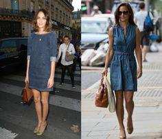 Джинсовые платья 2014