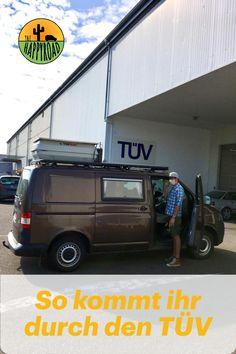 Was ist dem TÜV wichtig? Welche Punkte gibt es zu beachten? Unser T5 4motion ist jetzt als Wohnmobil zugelassen. Camper, Transporter, T5, Vehicles, Dots, Rv, Caravan, Travel Trailers