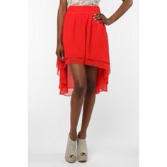 ANTHROPOLOGIE RED High-LOW chiffon Skirt M Ravishingly romantic, and powerful high-low RED Skirt, by Staring at the Stars, Medium. FOR ANTHROPOLOGIE. 💯💥🎉BUNDLE ANY 2 items to save 30%. Anthropologie Skirts High Low