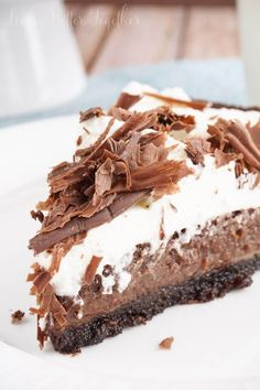 This Mississippi Mud Pie is a perfectly rich blend of chocolate and cream in a crisp chocolate graham cracker crust - lord have mercy on our waistlines.