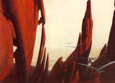 """Frank Herbert's """"Dune"""" (""""The Flight Through the Shield Wall,"""" art by John Schoenherr)"""