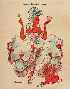 "girl-o-matic: """"Valentine's illustration by Sveta Shubina "" "" ∞ Retro Kunst, Retro Art, Valentines Illustration, Illustration Art, Girl Illustrations, Vintage Comics, Vintage Art, Images Vintage, Arte Pop"