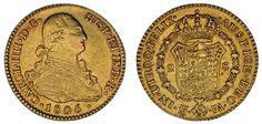 2 GOLD ESCUDOS/ORO. CHARLES IV - CARLOS IV. MADRID. 1805. XF+/EBC+.MUY ATRACTIVA