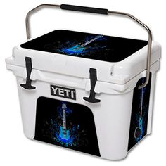 MightySkins Protective Vinyl Skin Decal for YETI Roadie 20 qt Cooler wrap cover sticker skins Guitar ** Visit the image link more details.-It is an affiliate link to Amazon. #CampKitchenEquipment