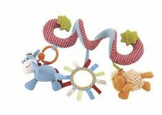 Spiral Wrap Around Baby Crib, Stroller Hanging Soft Toy ELC Blossom Farm