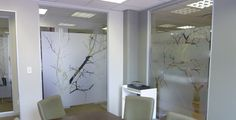 Frosted glass art adds creativity to office décor Frosted Glass, Office Decor, Oversized Mirror, Glass Art, Creative, Furniture, Beautiful, Workplace, Frosting