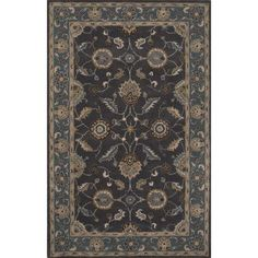 """The Conestoga Trading Co. Hand-Tufted Brown Area Rug Rug Size: Runner 2'6"""" x 10'"""