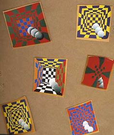 Optical Illusion Art Projects Use with Vasarely Class Art Projects, Middle School Art Projects, School Projects, School Ideas, Op Art Lessons, Intro To Art, 8th Grade Art, Pop Art, Ecole Art