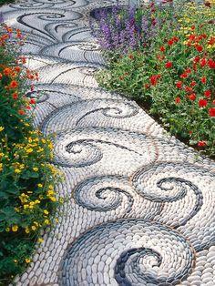 gorgeous cobblestone walkway