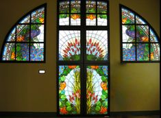 Miksa Roth Memorial House Budapest - Art Nouveau Glass Door and Window