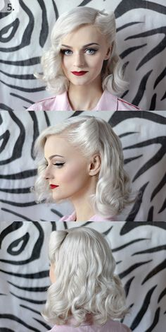 Vintage Hairstyle and Makeup