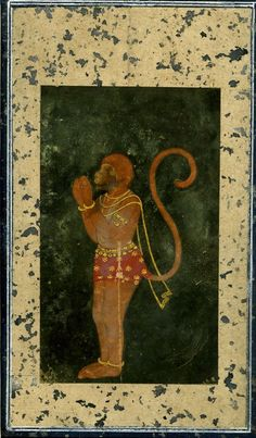 Lord Hanuman is a key player in the Hindu epic Ramayana. ca, 1800 Rajasthan School, Inda. painting on paper. © Trustees of the British Museum Shri Hanuman, Hanuman Lord, Hanuman Photos, India Painting, India Art, Indian Gods, Sacred Art, Gods And Goddesses, Miniatures