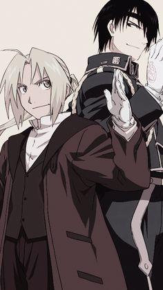 Fullmetal Alchemist - Ed x mustang Manga Anime, Anime Guys, Anime Art, Fullmetal Alchemist Edward, Fullmetal Alchemist Brotherhood, Roy Mustang, Digimon, Mustang Wallpaper, Arte Van Gogh