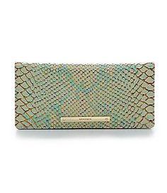 Brahmin Opal Seville Collection Ady Snake Embossed Wallet #Dillards