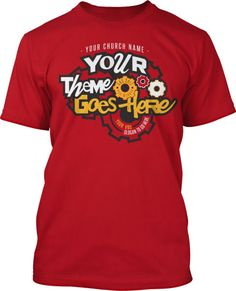Gear up for another awesome VBS with God and your church! This design has so many different elements. Crazy font, said crazy font with different looks and heights, different sized gears, and all the colors. Just as God makes each of us different.  VBS, fun factory, maker, gears