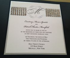 A little bling to your invitation!