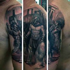 Greek Spartan Tattoo Designs For Males