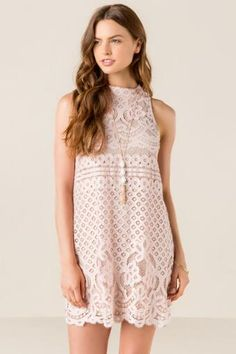 Jillian Lace Shift Dress