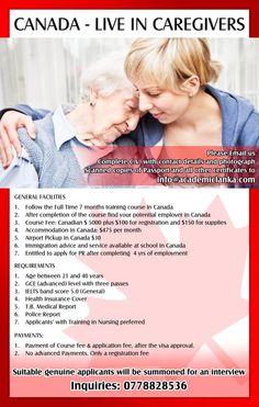 CANADA – Live in Caregivers