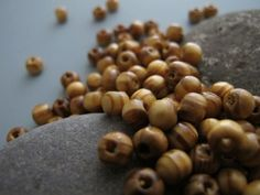 108 Mala Beads 5-6mm Wood Beads Tassel Necklace Natural Mala Beads Light Brown Wooden Necklace Bead Jewelry Supply Round Tan Wood Grain Bead