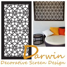 Named after the Northern Territory city of Darwin here in Australia, QAQ& laser cut decorative screen pattern & features intersecting and over. Marocco Interior, Decorative Screens, Circular Pattern, Screen Design, Darwin, Metal Working, Home Improvement, Interior Decorating, Spotlight