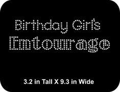 Rhinestone Bling Iron-on T-shirt Transfer Birthday Girl - GNO - Girls Night  Out T shirt Transfer iron on motif applique - Bling DIY 7af73a26fe57