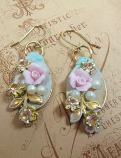 Vintage Style Spoon Earrings Shabby Chic by bsueboutiquesjewelry, $13.95