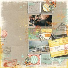 """A page by SanVHM using """"Explore"""" by Scrapyrus and """"Mister Right"""" by Jimbo Jambo Designs"""