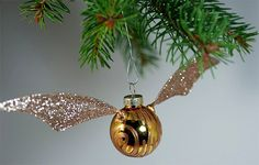DIY Harry Potter Snitch Christmas ornament