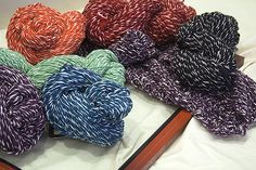 Not handspun.  Imperial Yarns's Anna |Store is NorthCoast Knittery.  Wool and cotton plied together.