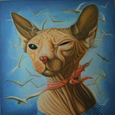 "Saatchi Online Artist: varvara stylidou; Oil 2009 Painting ""Captain Sphynx"""