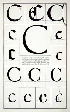 1942 Print Letter C Alphabet Gothic Roman Typeface Design Frederic Goudy Doodle Lettering, Creative Lettering, Lettering Styles, Lettering Design, Lettering Ideas, Brush Lettering, Learn Calligraphy, Calligraphy Letters, Typography Letters