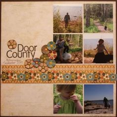 Autumn scrapbook layout by CC Salter...... (NOTE: pin does not go to original post)