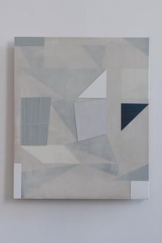 Andrew Bick   Ghost, 2012, pencil, oil paint and wax on wooden panel, 57 x 48 cm — at Hales Gallery