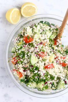 Easy Cauliflower Tabouli | Be Good Organics