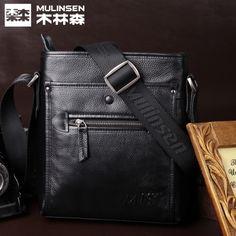 MulinsenMLS Men Sling Bag Messenger Bag Genuine Leather Leisure Backpack Leather Leisure Korean M Package Shoulder bags 18770923439